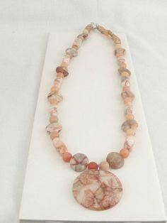 Peach collana con pendente