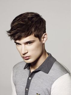 Beautiful men's haircut with disheveled fringe - Haircuts pictures gallery