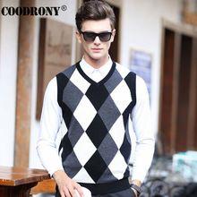 Winter Dress Knitted Merino Cashmere Wool Vest Men Christmas V-neck Sleeveless Sweater Men Fashion Classic Gentleman Argyle 6310(China (Mainland))