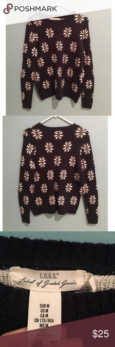 L.O.G.G. Snowflake Sweater Super cute, just doesn't fit me right! Never been worn except for trying it on. :) Sweaters