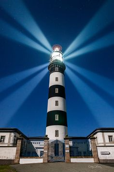 Créac'h lighthouse, in Ushant island, France. This is the most powerful lighthouse of Europe.