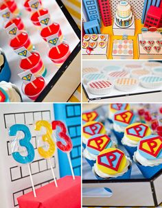 make the birthday boy or girl feel like a superhero with customized food and party decorations
