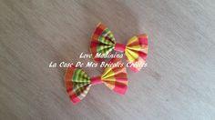 2 barrettes madras noeud papillon fillette : Accessoires coiffure par love-madinina