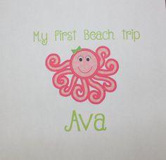 My first Beach Trip bodysuit or t-shirt by TeeterTotz on Etsy