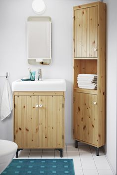 Maximize storage and make the most of any size bathroom with the IKEA SILVERÅN bathroom series. From corner units to sink cabinets, the SILVERÅN bathroom series helps you to find a place for everything.