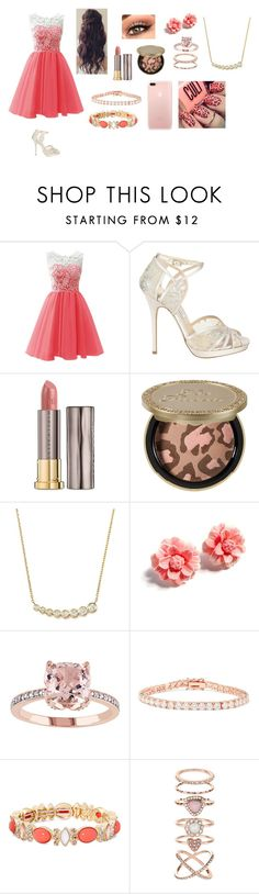 """""""Homecoming"""" by jaydengonz ❤ liked on Polyvore featuring Jimmy Choo, Urban Decay, Too Faced Cosmetics, KC Designs, Tarina Tarantino, Kenneth Jay Lane, Monet and Accessorize"""
