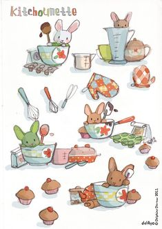 Le lapin dans la lune - Non dairy Diary - In the kitchen- so cute print out and frame it : )