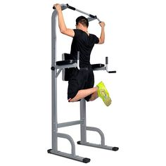 fa8543e5f52 Docheer Adjustable Height Power Tower w  Dip Station Pull Up Bar Standing  Tower Gym Sports Equipment 550 Lbs Pull Up Tower - Fitness Helping Center