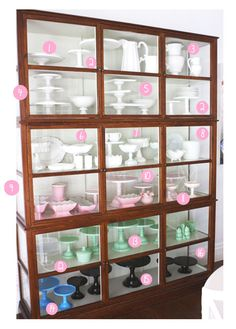 Sharnel's cake stand display case. Sigh. One day....