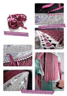 ¿Como hacer un mantoncillo de flamenca? #DIY Flamenco Skirt Pattern, Spanish Dress Flamenco, Flamenco Dresses, Crochet Projects, Sewing Projects, Flamenco Costume, Spanish Fashion, Dress Making Patterns, Costume Patterns