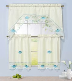 sears kitchen ruffled curtains sets | kitchen curtains | pinterest