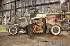 Rat Rod Girls, Car Girls, Pin Up Girls, Classic Trucks, Classic Cars, Hot Rod Trucks, Gmc Trucks, Kustom Kulture, Us Cars