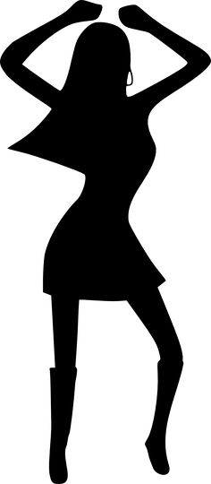 70's disco dancers silhouettes cutouts birthday party dance