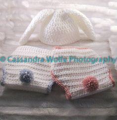 Crochet Korner Crochet Easter Bunny Rabbit Set by CrochetKorner, $33.00