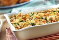 Swiss Vegetable Casserole- Served hot and bubbly from the oven, this colorful and cheese-topped veggie casserole is good enough tosteal the limelightfrom your favorite main dishes.