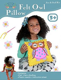 Buy Sew and Stuff Kit. Felt Owl Pillow Ideal Kids Craft Kit Includes all Supplies. Ages All Inclusive Arts and Crafts, Woodland Animal Owls w/ Vibrant Colors Ideal Rainy Day Activity Arts And Crafts Kits, Craft Kits For Kids, Hobbies And Crafts, Crafts For Kids, Rainy Day Fun, Art And Hobby, Owl Pillow, Rainy Day Activities, Creative Kids