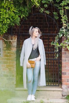 5 Reasons Why I'm in Love with Hampstead wearing 7 For all Mankind Jeans, Celine Sunglasses, White Converse All Stars, Chloe Faye caramel in small, Paisie Jacket and a Hush Grey Tee
