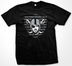 Ice Cube The Raider T-Shirt | Black Action Tees