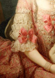 Detail of portrait of Maria Christina