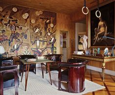 Agnelli apartment at 770 Park Avenue, in New York - Renzo Mongiardino and Peter…