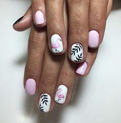 - Flamingo Nail Art by Catnailartist College Nails, Flamingo Nails, Gel Overlay, Vacation Nails, Party Nails, Pretty Hands, Nail Games, Gel Nail Designs, Stylish Nails