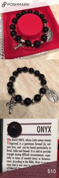 Onyx Rosary bracelet Onyx Rosary stretch bracelet. New. Perfect easter gift. Jewelry Bracelets