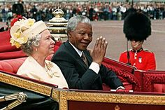 Nelson Mandela and Queen Elizabeth II ride in a carriage along The Mall on the first full day of his state visit to Britain in July Pushpa Padayichie Nelson Mandela, Duchess Of York, Duchess Of Cambridge, Naomi Campbell, Celebrities Then And Now, Sports Celebrities, Prince Charles And Diana, Photo Souvenir, Queen Elizabeth