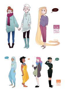 Modern disney princesses
