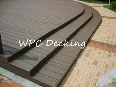 #ecological  water resistant wpc decking supplier