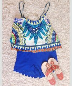 Summer Outfit - Love this crop top!