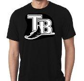 New Custom Screen Printed T-shirt Tampa Bay Devilrays Baseball S