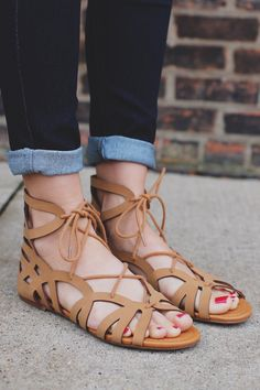Tan Gladiator Style Caged Lace Up Sandal | UOIonline.com: Women's Clothing Boutique