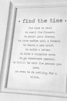 Find the time!