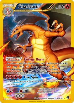 Charizard by paulsnoops Fake Pokemon Cards, Pokémon Cards, Charizard, Your Turn, Xbox, Deviantart, Gallery, Gift, Roof Rack