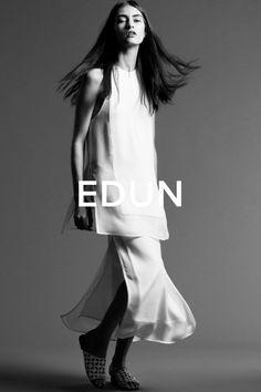 Edun looking minimalist in their spring ads