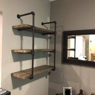 Simple Solutions To Problems With Your Plumbing – Plumbing Industrial Wall Shelves, Industrial Furniture, Diy Furniture, Plumbing Pipe Shelves, Pipe Shelving, Desk Shelves, Industrial Bathroom, Industrial House, Rustic Industrial