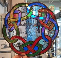 Round Knot Work Stained Glass $110  Check us out online at www.TheTwistedShamrock.com or call our store 248-544-4170