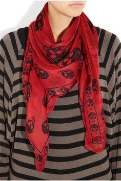 Alexander McQueen scarf.
