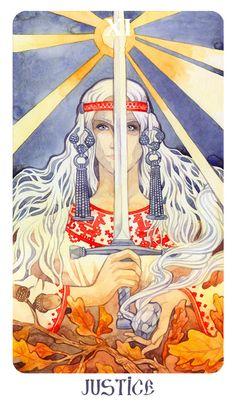 XXI Аркан - Мир (Явь, Навь, Правь) Акваре...