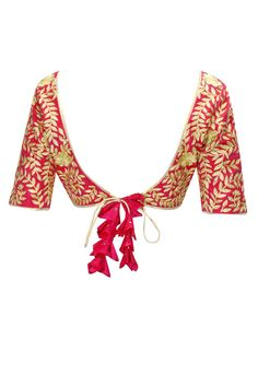 Nachiket Barve sari or saree blouse design. Indian fashion.