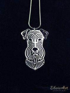 miniature schnauzer silver dog jewelry by SiberianArtJewelry, $75.00