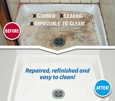 Tired of your impossible-to-clean shower & tile? We'll repair and refinish the shower pan and tile to like-new condition. Best of all, the surfaces be easy to clean!