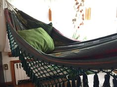 Olive Green hammock Hand Woven 100% Cotton with hand made