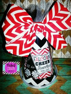 Personalized Cheer Megaphone #rebelchickdesigns #personalized #monogrammed #cheer #dance #banquet #competition #gift #lilsis #chevron #all-star #falcons