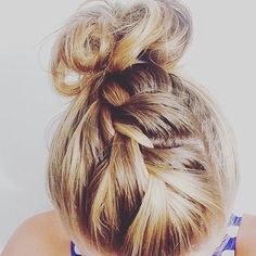 Braid to bun hairstyle