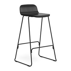Discover the Normann Copenhagen Just Barstool With Back - Black - 65cm at Amara