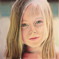 Sanne (Holland). Pastels Drawing / Dibujo en Tizas Pastel