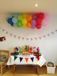 Rainbow buffet!