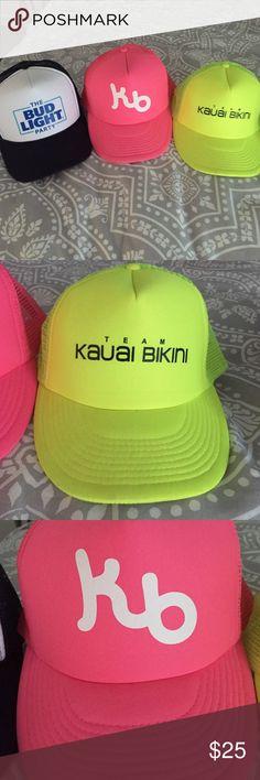 52dcdd5513069 Kauai bikini Hat Bundle Three hats: 2 Kauai bikini hats 1 Bud-light Party