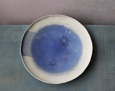 Hey, I found this really awesome Etsy listing at https://www.etsy.com/listing/506016526/blue-moon-platter-big-ceramic-plate